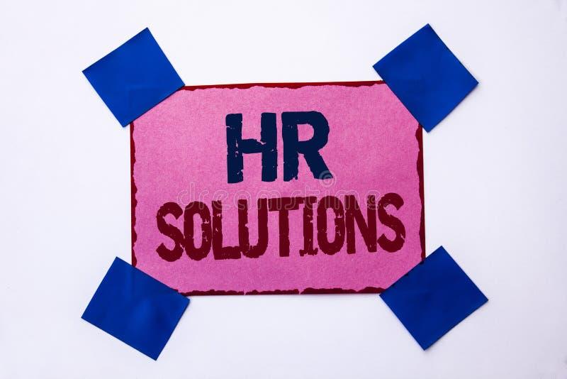 Conceptuele hand die tonend U-Oplossingen schrijven De Rekruteringsoplossing van de bedrijfsfototekst het Raadplegen Beheer die O stock afbeeldingen