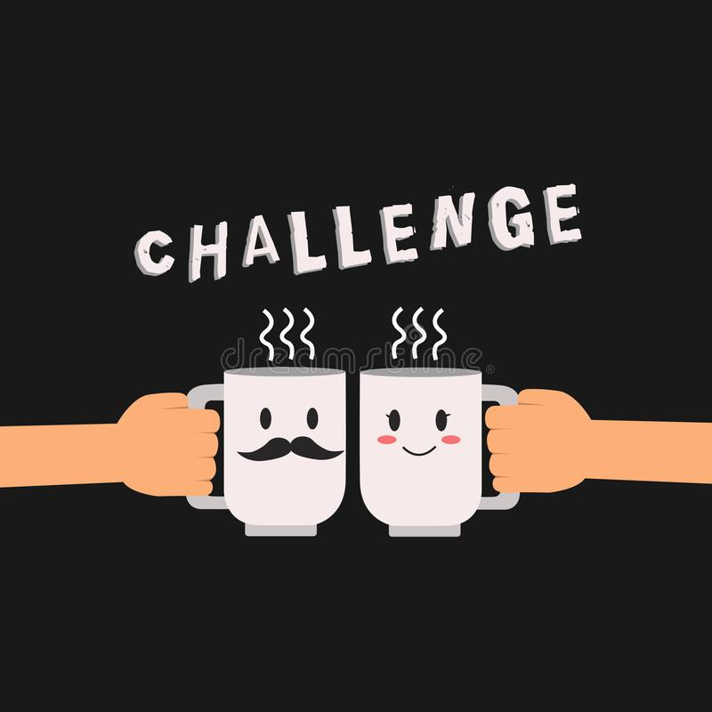 Conceptuele hand die tonend Uitdaging schrijven Bedrijfsfoto demonstratievraag aan iemand om aan concurrerend deel te nemen royalty-vrije illustratie