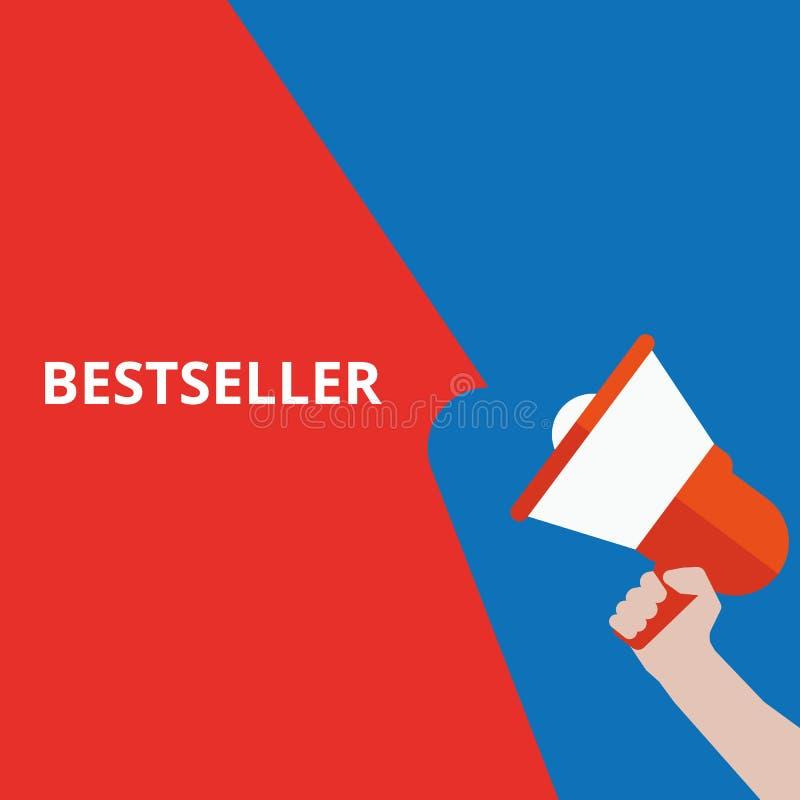 Conceptuele het schrijven tonende Best-seller royalty-vrije illustratie