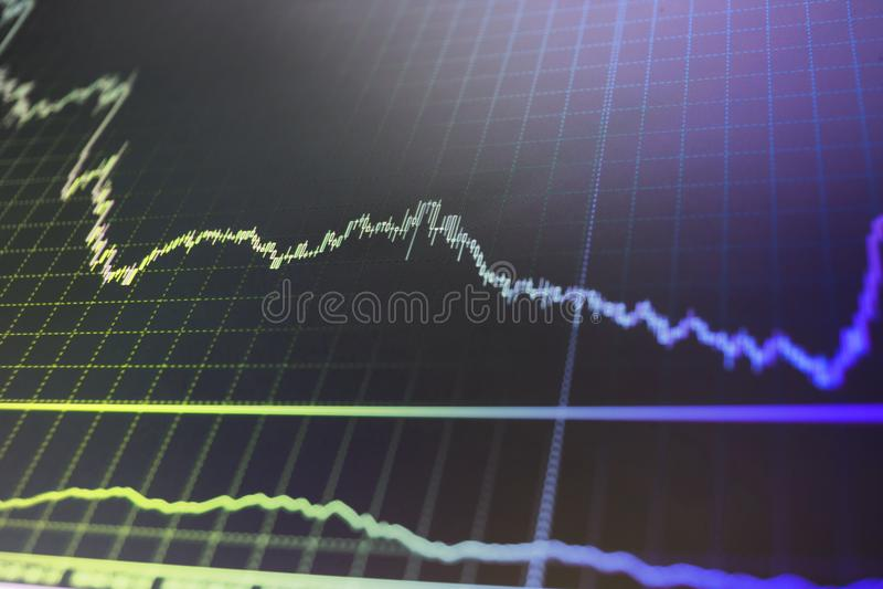 Conceptuele mening van de wisselmarkt royalty-vrije stock foto's