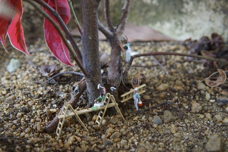 Conceptuele miniatuur stock afbeeldingen