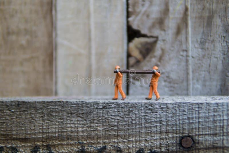 Conceptuele miniatuur stock foto