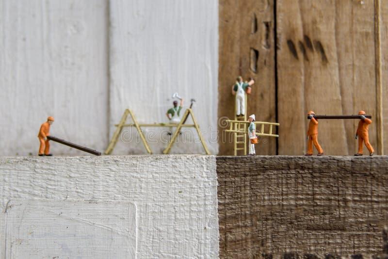 Conceptuele miniatuur royalty-vrije stock afbeeldingen