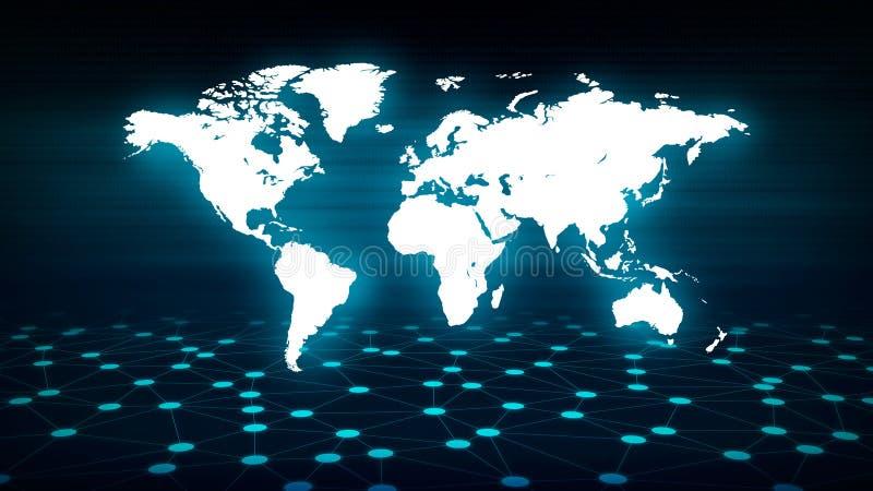 Conceptuele netwerktechnologie backgorund stock afbeelding
