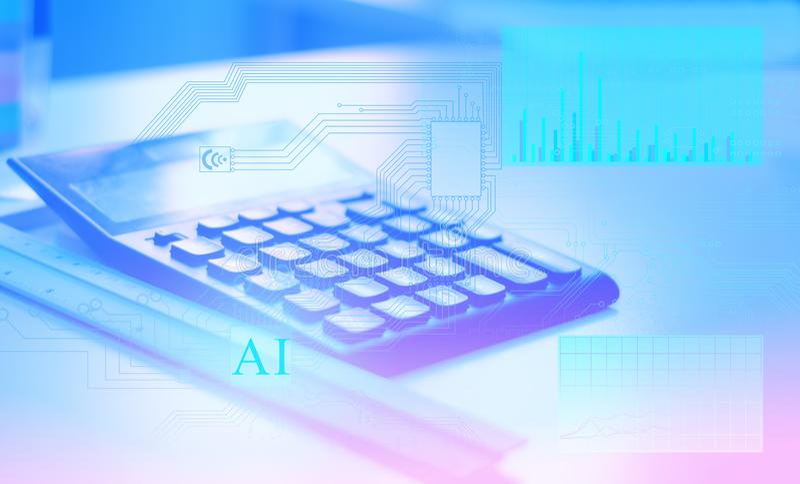 Conceptuele oplossing van de overgang van de oude gegevensverwerkingstechnologie naar de technologie van de toekomst, het gebruik royalty-vrije stock foto