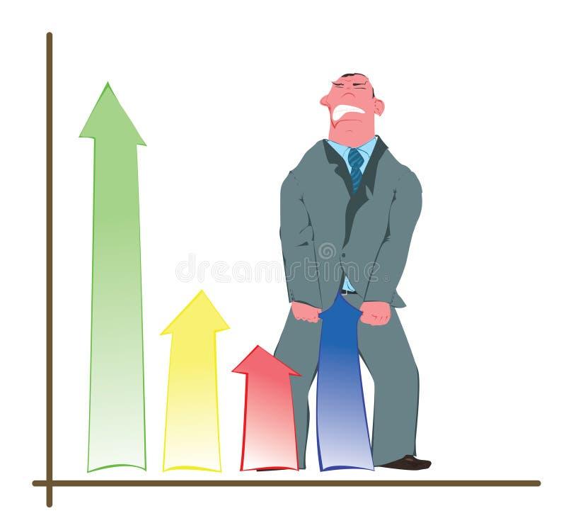 Conceptuele strijd voor de groei vector illustratie