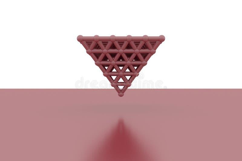 Concepture стиля молекулы, блокировать пирамиды, для текстуры дизайна & предпосылки r иллюстрация вектора