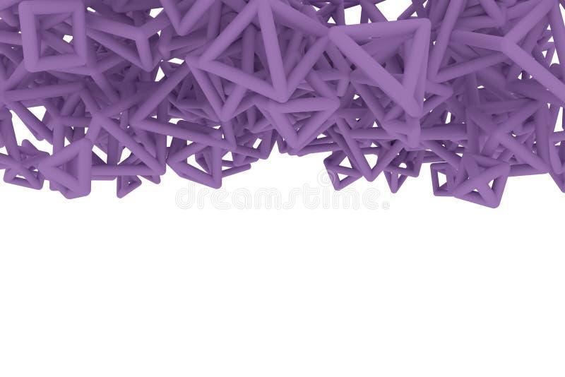 Concepture g?om?trique, groupe de triangle ou place, vol, enclench? pour la texture de conception, fond 3d rendent illustration libre de droits