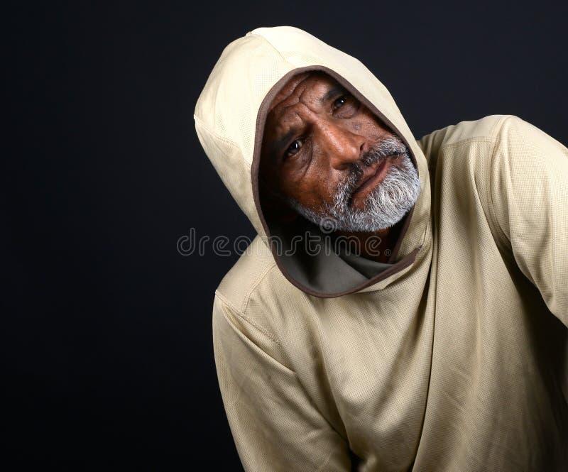 Concerened Indische mens royalty-vrije stock fotografie