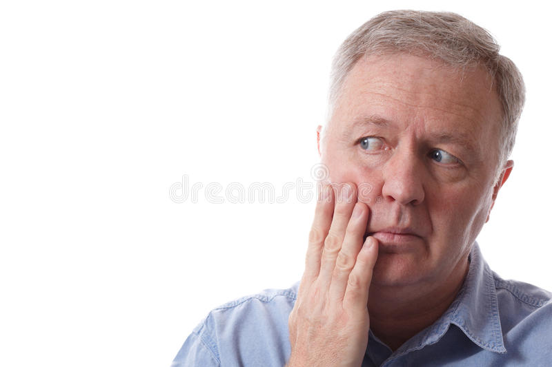Concern And Pain Royalty Free Stock Images