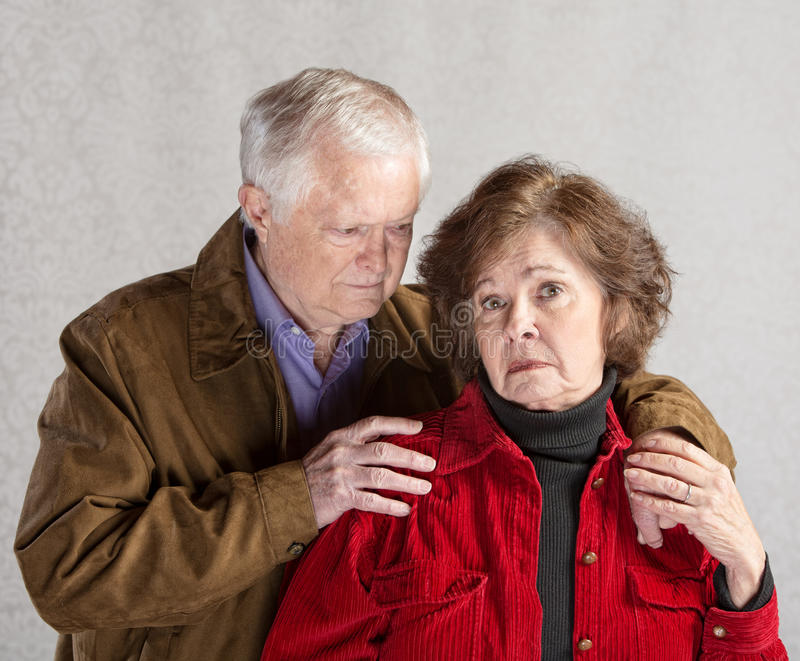concerned супруг стоковые фото