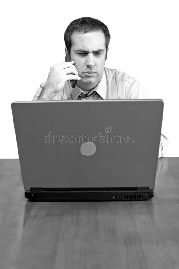 Concerned Business Man stock photo