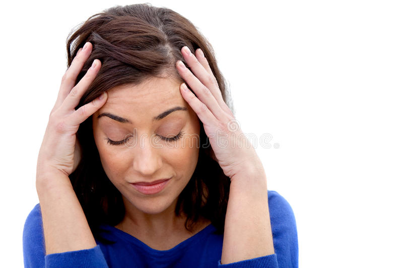 Download Concerned woman isolated stock photo. Image of head, disturbed - 13881546