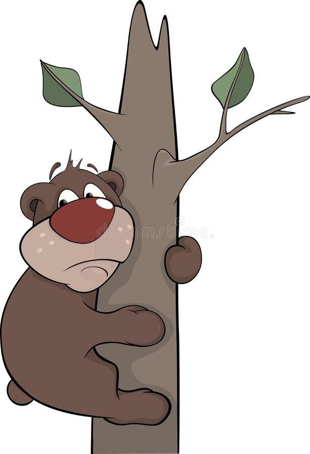 Concernez un arbre. Bande dessinée illustration de vecteur