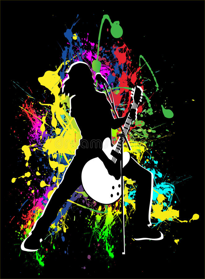 Download Concert stock vector. Image of girl, play, song, paint - 10637952