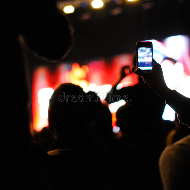 Free Concert. Royalty Free Stock Photos - 35915088