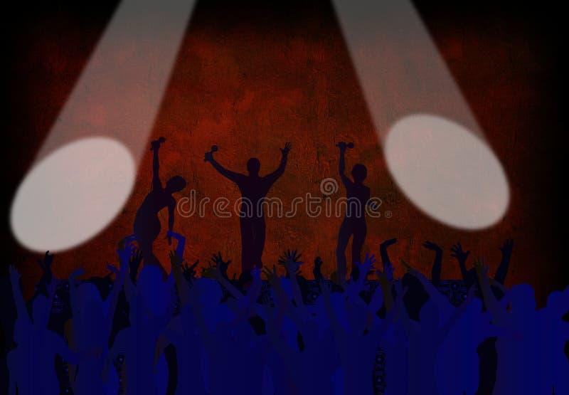 Download Concert stock illustration. Image of blue, full, fans - 3988634