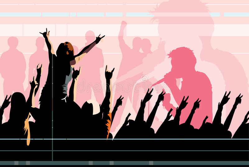 Concert stock illustration