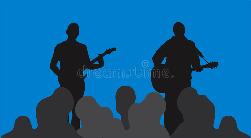 Download Concert stock vector. Image of microphone, player, guitar - 62465