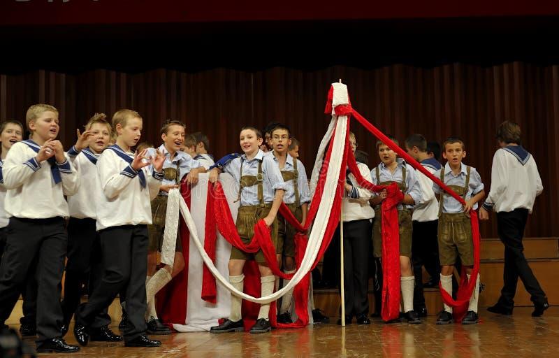 Concert of Austrian St,Florian Boy's Choir stock photo