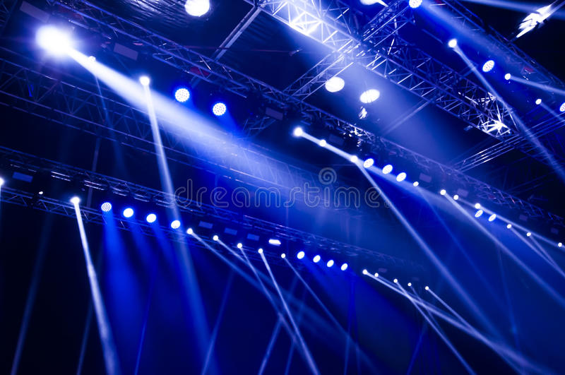 Concert blue light royalty free stock image