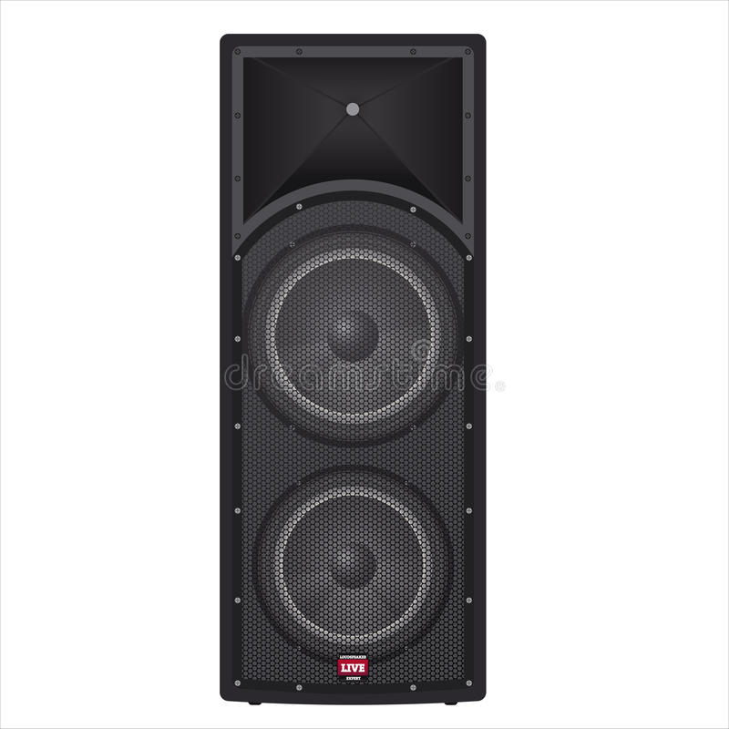 Concert box speakers royalty free stock photo