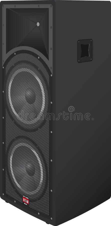 Concert box speakers royalty free stock photography