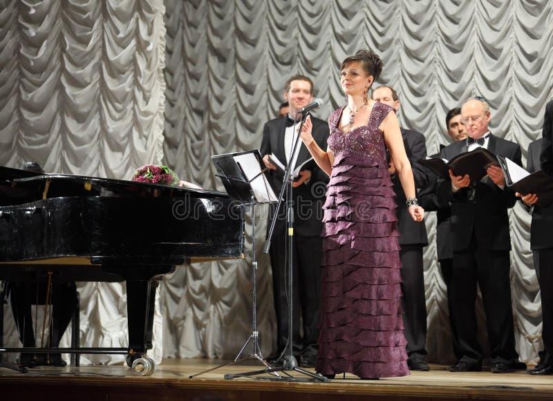 Concert choral de musique images stock
