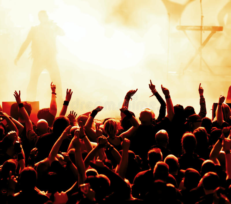 Download Concert Crowd stock photo. Image of light, band, clap - 15399598