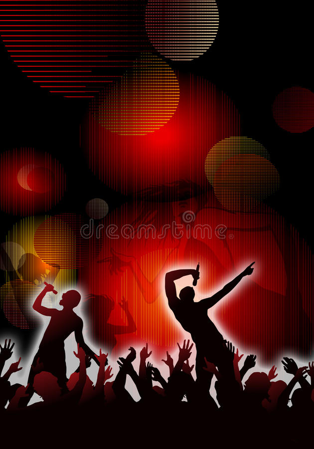 Download Concert Crowd stock illustration. Illustration of light - 28322860