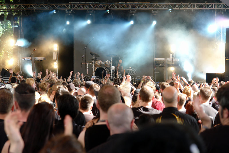 Download Concert Crowd stock photo. Image of band, entertainment - 5211130