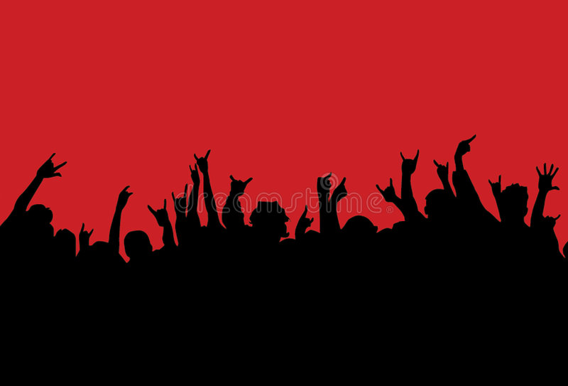 Download Concert crowd stock vector. Image of silhouette, colorful - 6897794