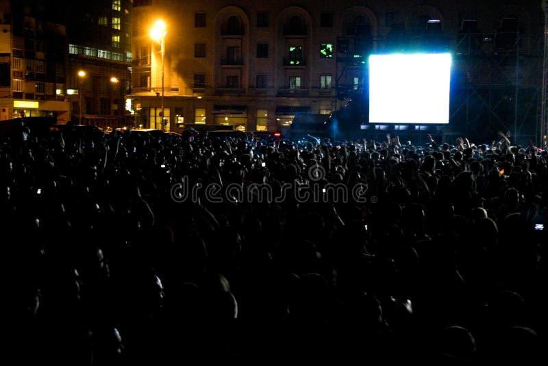concert crowd night στοκ φωτογραφίες