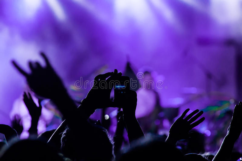 Concert crowd stock image