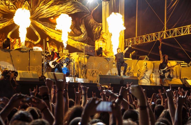 Concert d'Iron Maiden en Turquie photo libre de droits