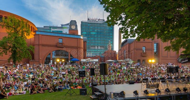 Concert de attente Poznan-Pologne de foule photos libres de droits
