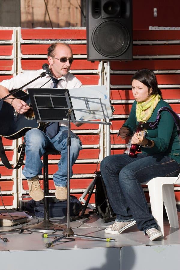 Concert de bande photographie stock libre de droits