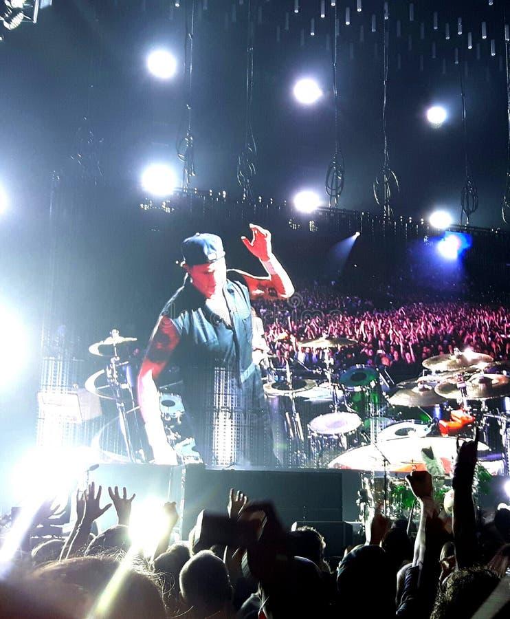 Concert de Chili Peppers d'un rouge ardent image stock