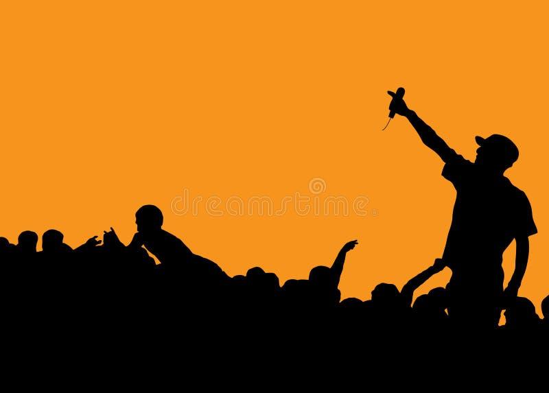 Concert de frappeur illustration libre de droits
