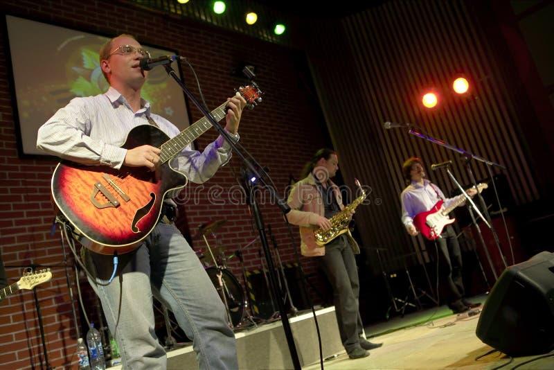 Concert de groupe de rock images libres de droits