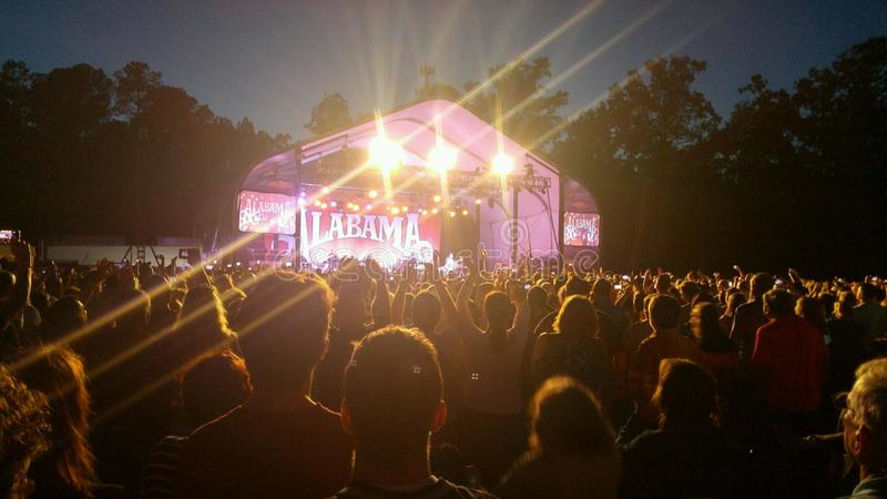 Concert de l'Alabama photographie stock libre de droits
