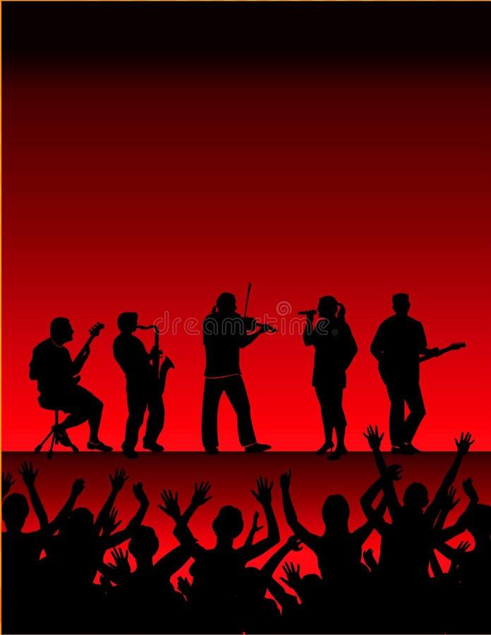 Concert de musique   illustration de vecteur
