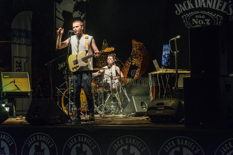 Concert de musique rock photos stock