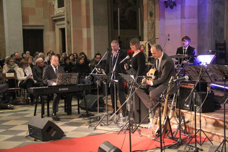 Concert de Noël dans la ville de Busto Arsizio photos libres de droits