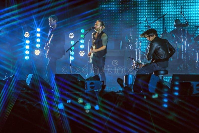 Concert de Radiohead photographie stock