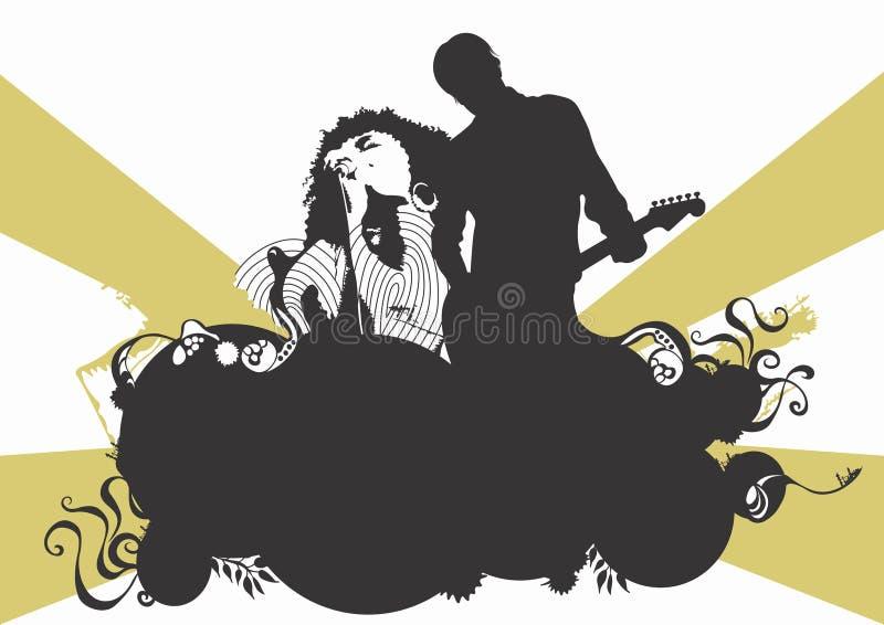 Concert de rock illustration de vecteur