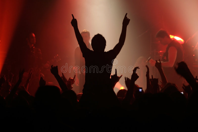 Concert de rock photos stock