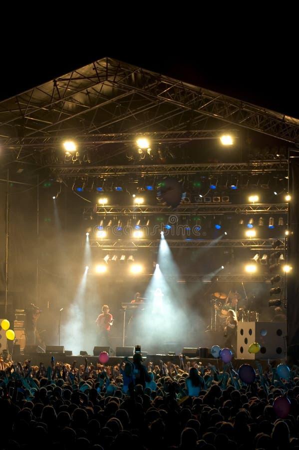 Concert de rock 6 images libres de droits