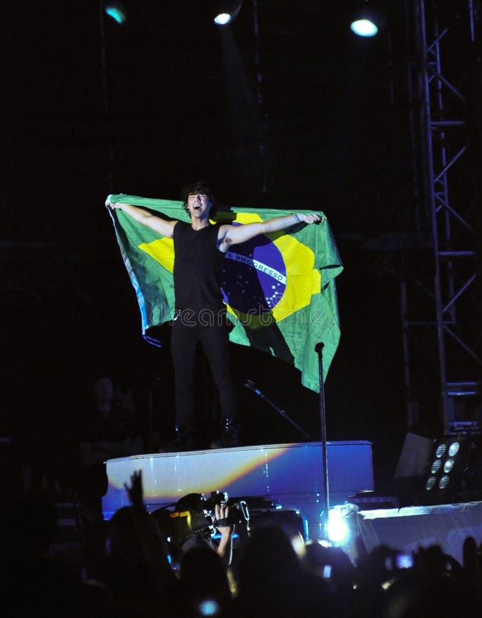 Concert de rock de frères de Jonas photo libre de droits