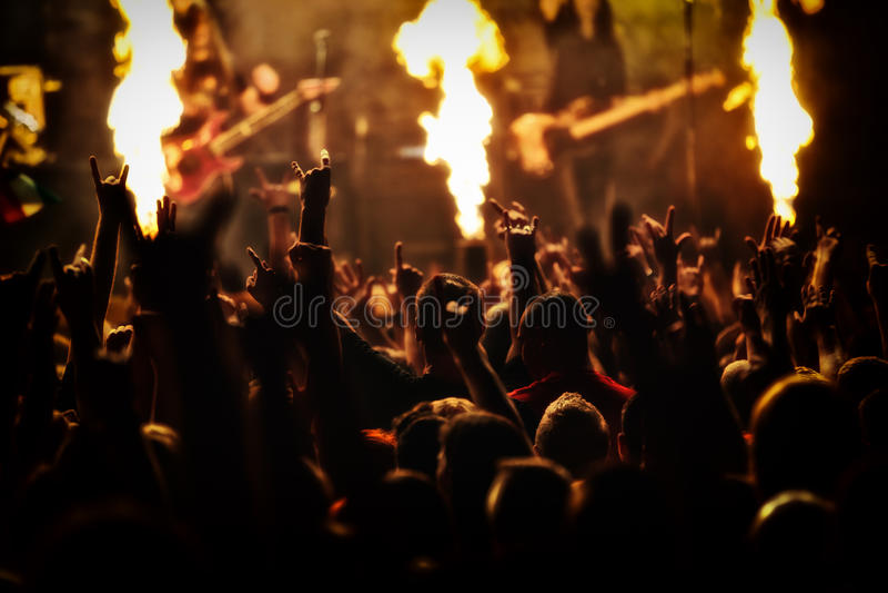 Concert de rock, festival de musique photos stock